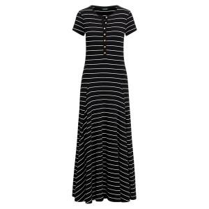 Striped Jersey Maxidress