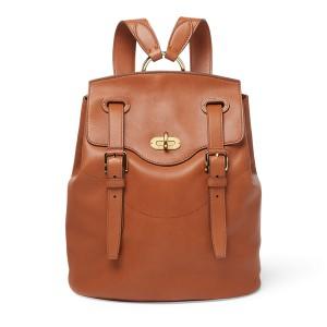 Calfskin Turn-Lock Backpack
