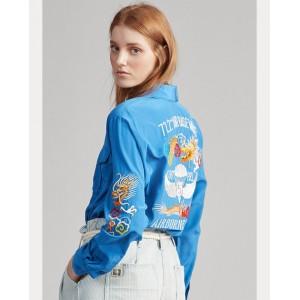 Embroidered Silk Shirt