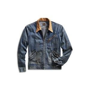 Corduroy-Collar Denim Jacket
