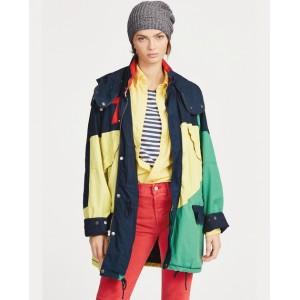 Color-Blocked Canvas Jacket