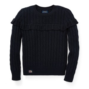 Ruffled Cotton Sweater