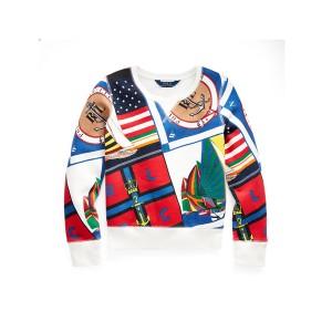 Sailing-Print Fleece Pullover