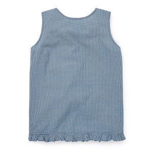 Gingham Crossback Cotton Top