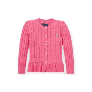 Cotton Peplum Cardigan