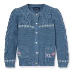 Intarsia Cotton-Wool Cardigan