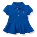 Cotton Piqu&eacute Peplum Polo Shirt