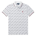 Classic Fit Sailboat Mesh Polo