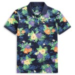 Classic Fit Floral Mesh Polo