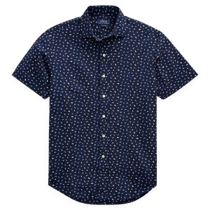 Classic Fit Flag-Print Shirt