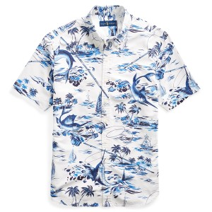 Classic Fit Marlin-Print Shirt