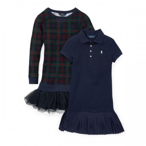 폴로 Knit Dress 2-Piece Gift Set