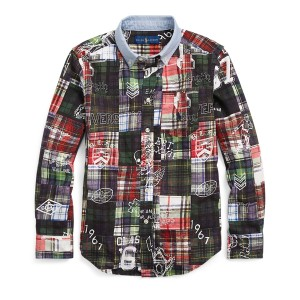 Printed Patchwork Cotton Shirt