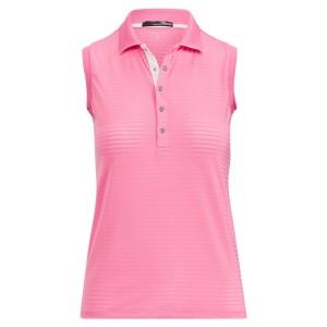 Textured-Stripe Mesh Golf Polo