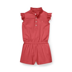 Eyelet Cotton Mesh Romper