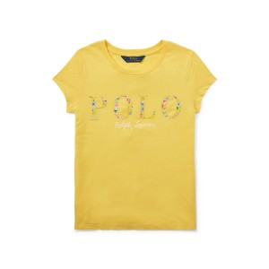 Floral Polo Jersey T-Shirt