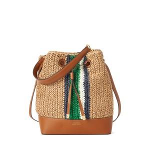 Straw Debby Drawstring Bag
