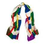 Polo Frayed Wool Scarf