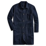 Indigo Cotton-Linen Shop Coat