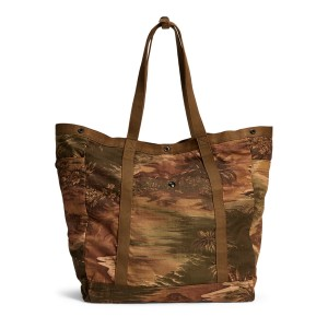 Tropical-Print Twill Tote