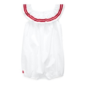 Striped Cotton Bubble Shortall