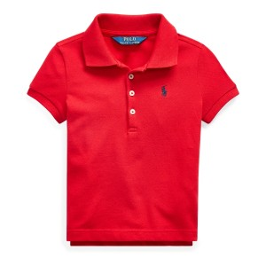 Stretch-Cotton Mesh Polo Shirt