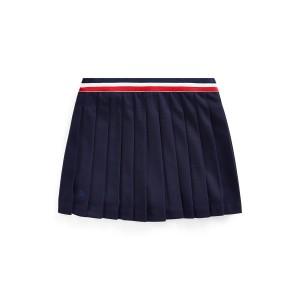 Pleated Ponte Skirt