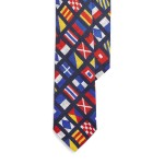 Nautical Linen Narrow Tie