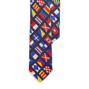 Nautical Linen Narrow Tie
