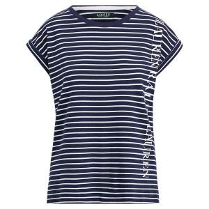Striped Logo Cotton-Blend Top