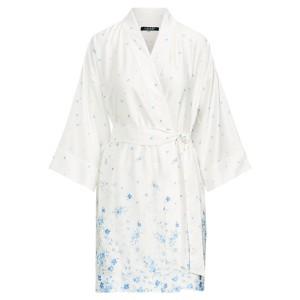 Floral Satin Kimono Robe