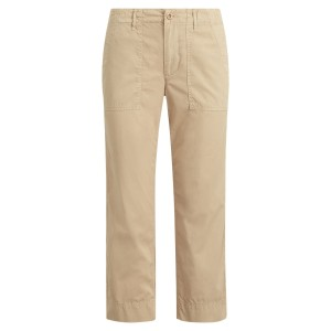 Straight Cotton Twill Pant