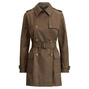 Belted Cotton Trench Coat