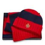 Striped Hat & Scarf Gift Set