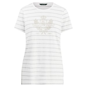 Striped Logo Cotton-Blend Tee