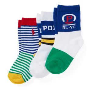 RL-YC Crew Sock 3-Pack