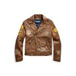 Leather Graphic Moto Jacket
