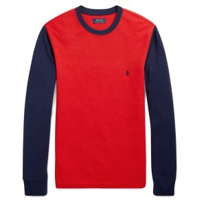 Color-Blocked Thermal Shirt