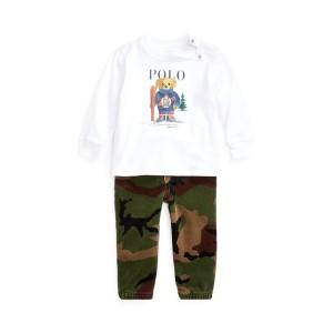Ski Bear Tee  Camo Pant Set