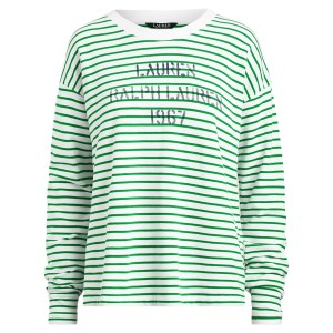 Logo Striped Terry Sweatshirt
