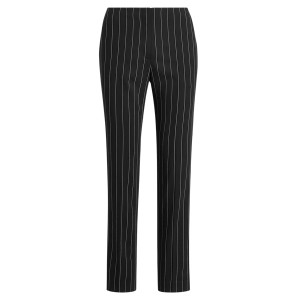 Simone Rope-Stripe Wool Pant