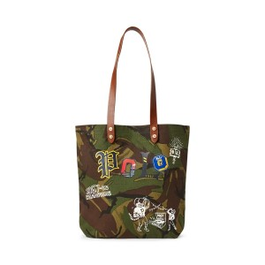 Camouflage Cotton Canvas Tote