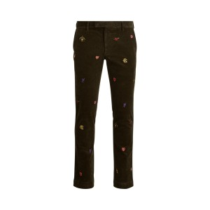 Stretch Slim Embroidered Pant