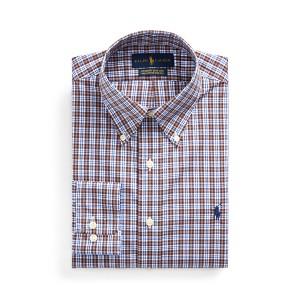 Custom Fit Plaid Poplin Shirt