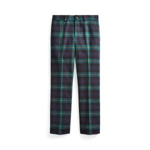 Slim Fit Tartan Wool Pant