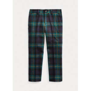 Slim Fit Tartan Wool Pant