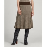 Herringbone Ribbed Wool Skirt