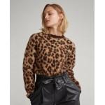 Leopard-Print Wool Sweater