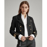 Cotton-Blend Military Blazer