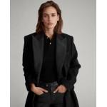 Wool-Blend Tuxedo Coat
